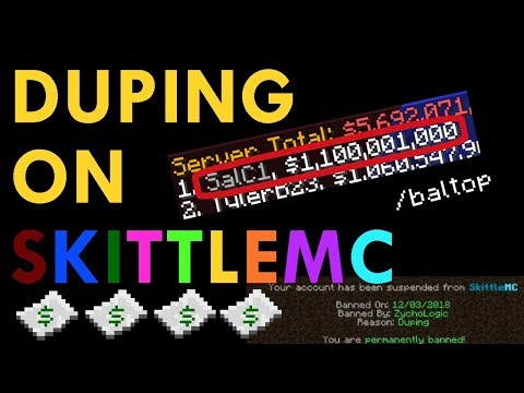 Destroying the Economy on SkittleMC with the Chunk Dupe