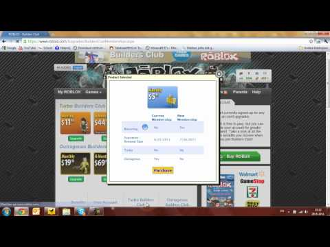 How to get Builders Club on ROBLOX (AUDI80)