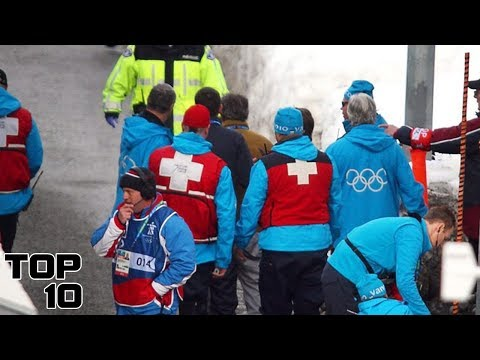 Top 10 Craziest Deaths At The Olympics (видео)