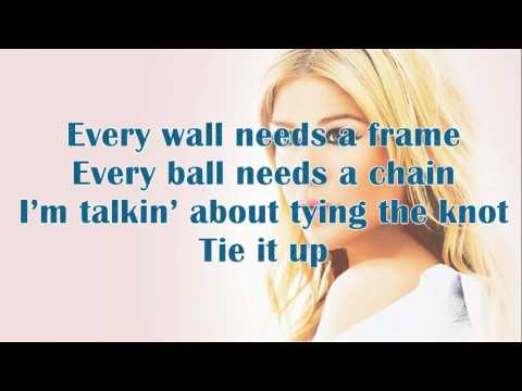 Kelly Clarkson - Tie It Up Lyrics On Screen HD (NEW 2013 SONG)