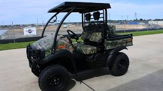 5. SALE $9,599:  2017 Kawasaki Mule SX XC Camo with Steel Top Brush Guard and More!