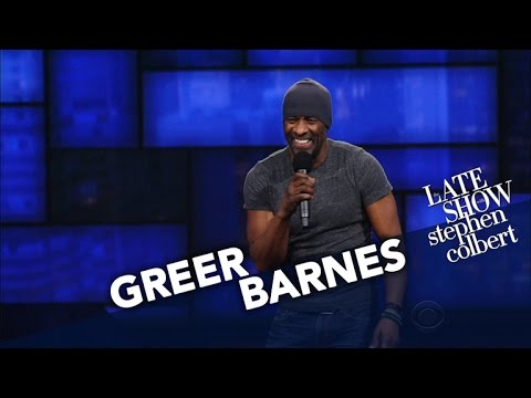 Greer Barnes StandUp on The Late Show