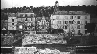Chateau-Thierry France  city photo : American soldiers in Chateau Thierry, France during World War I;destroyed bridge ...HD Stock Footage