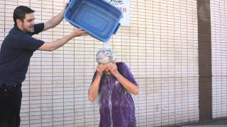 Shipper/Receiver Marilyn Meyn takes the Ice Bucket Challenge at McBain Camera's 107th Ave. location. You can donate to ALS ...