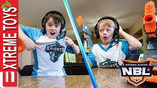 Ethan and Cole Player Profile! NBL Nerf Battle Action!
