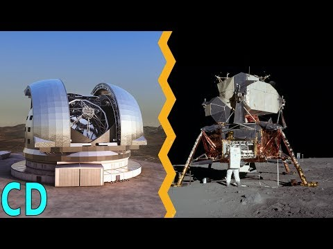 Why can't we see the Apollo lunar landers on the Moon from Earth ? (видео)