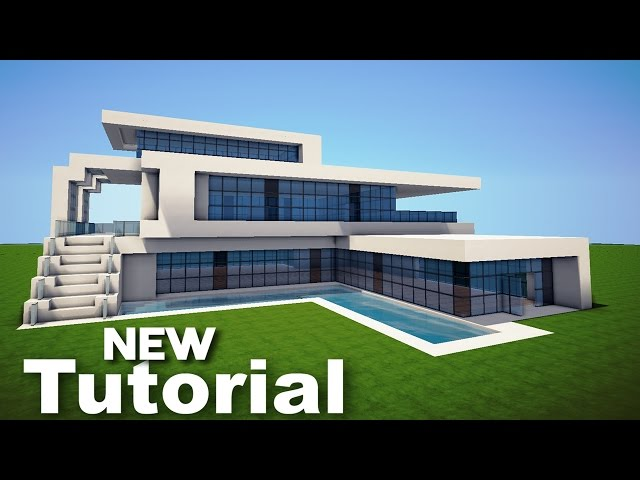Minecraft how to build a modern house bes for How to build a modern home