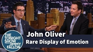John Oliver Showed a Rare Display of Emotion