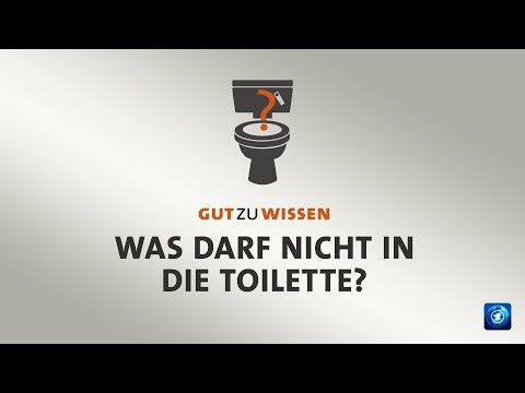 Was darf nicht in die Toilette?