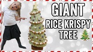 GIANT RICE KRISPY (KRISPMAS) TREE by  My Virgin Kitchen