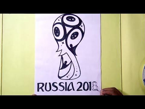 FIFA World Cup Russia 2018 Logo Drawing