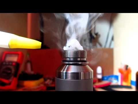 """Fatty V2 clone called """"Dream pushing a """"Spin E"""" coil with cotton wick"""