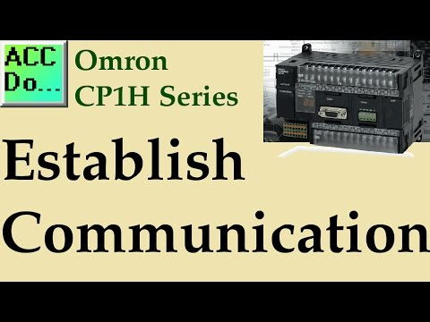 Omron CP1H Establish Communication