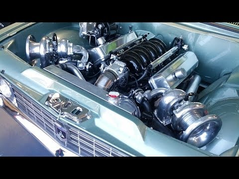 Classic Holden with a twin turbo LS1 goes to the dyno