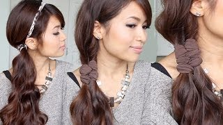 Easy Faux Braid Headband Hairstyles for Medium Long Hair Tutorial