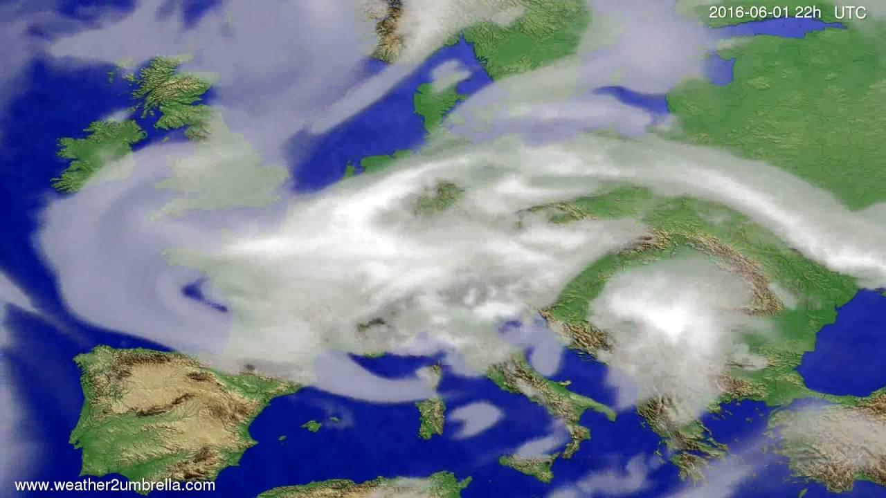 Cloud forecast Europe 2016-05-30