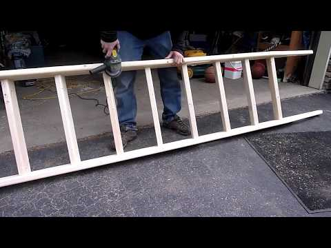 A simple $15 wooden ladder