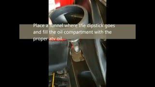 10. Polaris 500 Sportsman oil and gear case fluid changes