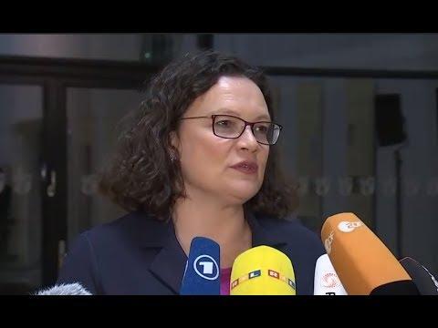 SPD-Chefin Andrea Nahles zum Kompromiss um Causa Maaß ...