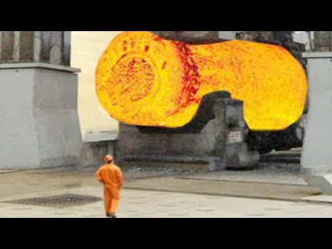 Extreme Dangerous Biggest Heavy Duty Hammer Forging Factory, Hydraulic Steel Forging Process