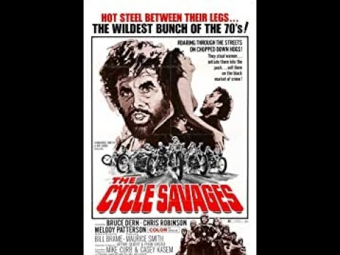 '' The Cycle Savages '' - Official Film Trailer - 1969.