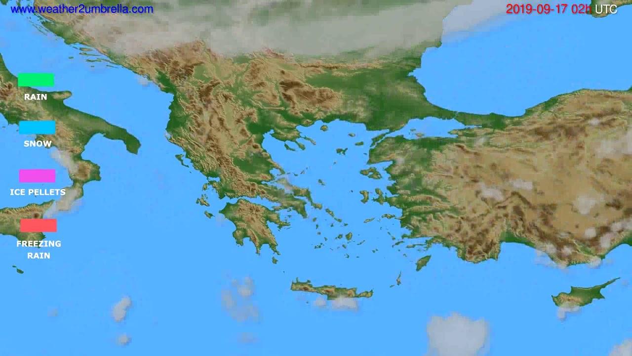 Precipitation forecast Greece // modelrun: 12h UTC 2019-09-14