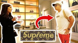 Video WEARING FAKE SUPREME LOUIS VUITTON TO THE LOUIS VUITTON STORE!! GONE WRONG!! MP3, 3GP, MP4, WEBM, AVI, FLV Februari 2018