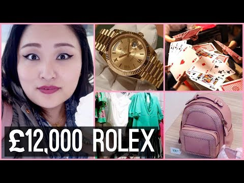(Fun Shopping Dayout with Puccasyanu - £12,000 Rolex Watch | Giant Playing Cards - VLOG #51 - Duration: 10 minutes.)