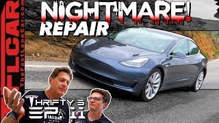 It Keeps Getting Worse! You Won't Believe How Long & Much to Fix Our Tesla Model 3 - Thrifty 3 Ep.11 by The Fast Lane Car