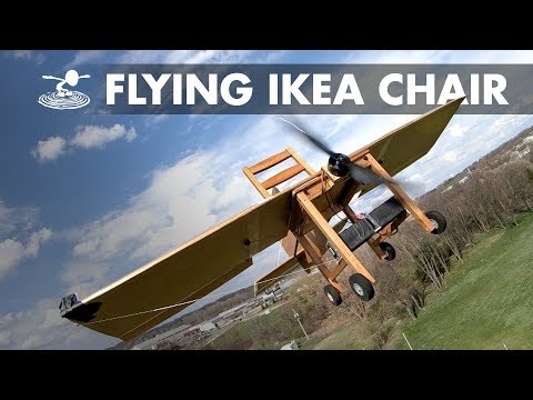 IKEA Chair Modded Into Functional R C Airplane