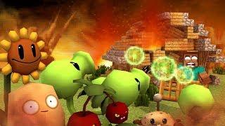 Minecraft | BASE VS EVIL PLANTS! - Base Challenge! (Plants Vs Zombies)