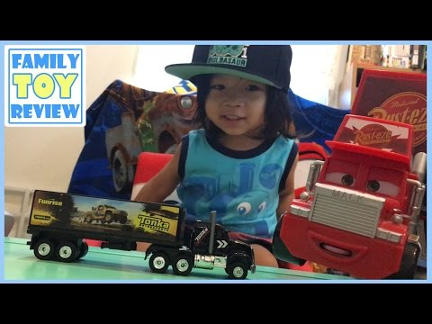 Toy Trucks For Kids - SEMI TRUCK TONKA Big Rig Off-Road Transporter Tractor Trailer Disney Cars Mack