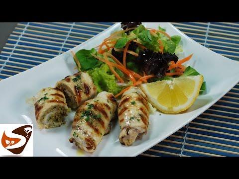 Involtini di pesce spada alla siciliana - secondi piatti di pesce (sicilian stuffed swordfish rolls)