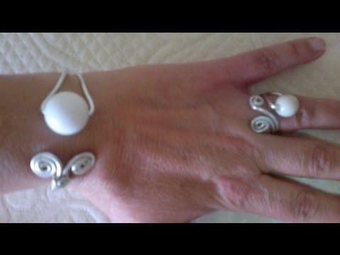 DIY:Como hacer brazalete pulsera adaptable de alambre.
