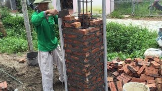 Video How To Buiding Brick Columns Extremely High With Brick And Mortar - Amazing Construction Project MP3, 3GP, MP4, WEBM, AVI, FLV Agustus 2018