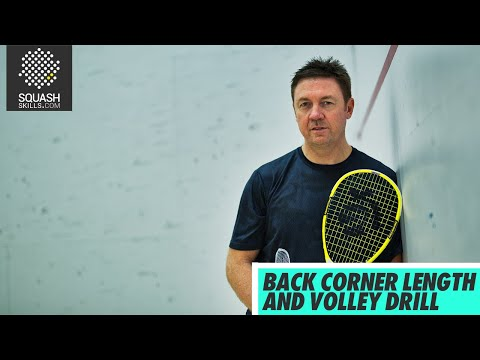 Squash tips: Back corner length and volley drill with Shaun Moxham