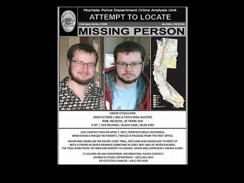 Missing of The Pacific Crest Trail disappearance of David O'Sullivan