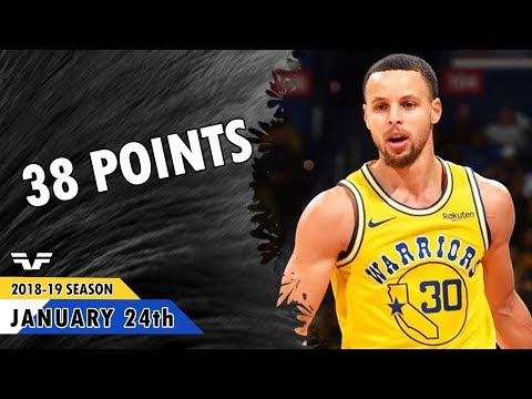 Stephen Curry - 2019.01.24 - Warriors vs Wizards - 38 Pts