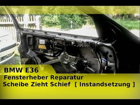 BMW E36 Fensterheber Reparatur I Scheibe Zieht Schief  [ Instandsetzung ]