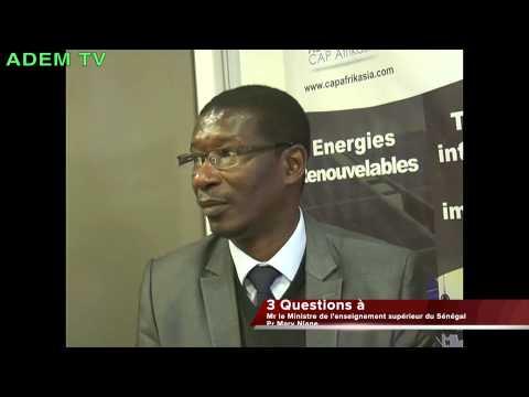 3 Questions au Ministre de l'Enseignement Supérieur Sénégal Pr Mary T Niane