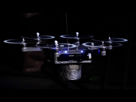 Flying Hexarotor Robot Perform the  2001 A Space Odyssey  Theme Song on Musical