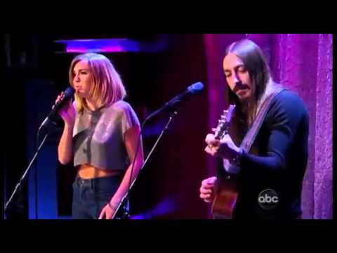 Miley Cyrus ft Johnzo West - You're Gonna Make Me Lonesome When You Go - Jimmy Kimmel Live 2012