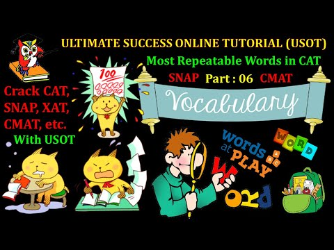 Most Repeatable Words in CAT, SNAP & XAT. Part 06| VARC | USOT | CAT| XAT | SNAP | CMAT | TISSNET |