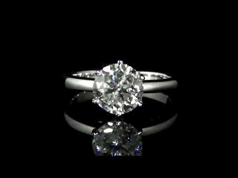 經CGL鑑定2.01克拉鑽石戒指