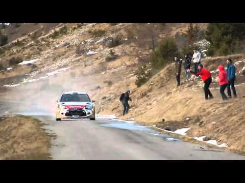 Sebastien Loeb on the limit during test for Monte Carlo 2015