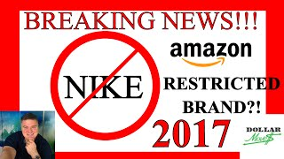 Breaking 2017 Amazon FBA Seller News! Amazon.com sent a mass email to FBA Sellers today regarding selling the Nike Brand Clothing and Shoes on Amazon FBA starting July 13th, 2017. All Nike Shoes, clothing and apparel are becoming restricted on July 13th 2017 (*Since making this video it has come to my attention that as of right now it is only certain Nike ASIN's that are affected and not all Nike as I had previously thought) and third party sellers are no longer able to be list and sell Nike products on the Amazon.com website! As of this email those that do not have the approval to sell Nike are not grandfathered in and also Amazon is not taking applications for approval right now. This video is meant to help sellers deal with this time and come from a place of strength and not fear! These types of changes have happened on Amazon before and tend to happen a couple times of year. When Amazon FBA changes their rules and procedures many people get scared and start spreading A LOT of fear based on an unknown future. This type of thing happened with shoes in 2016 and was retracted for many sellers (who were able to start selling again) and who knows if this is the same type of situation? Step back, take a breath and look at YOUR situation in a logical manner. Figure out the best thing to do for YOUR business and try not to make knee jerk business reactions that are influenced by fear (yours and others)! I hope that this video helps! Please SHARE it with those you think it can help!