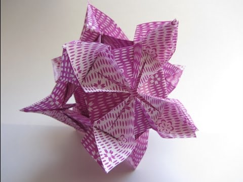 Kusudama Tutorial - 005 -- Diamond Flower