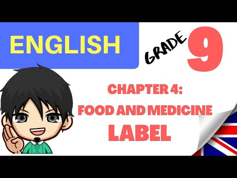 FOOD AND MEDICINE LABEL: BAHASA INGGRIS KELAS 9