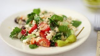 Greek Quinoa Salad- Healthy Appetite with Shira Bocar by Everyday Food