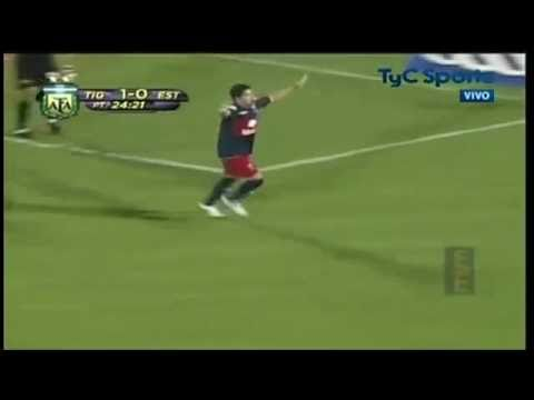 Gol de Diego Morales al cuadro de Estudiantes